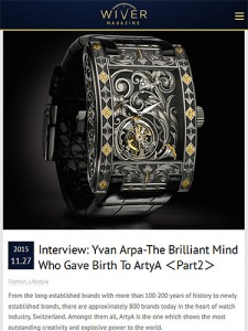 ArtyA Interview with Yvan Arpa in WIVER MAGAZINE(2)
